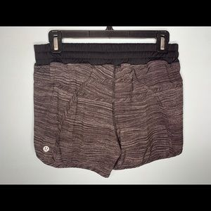 Lululemon Tracker Shorts - Black and Gray Speckled
